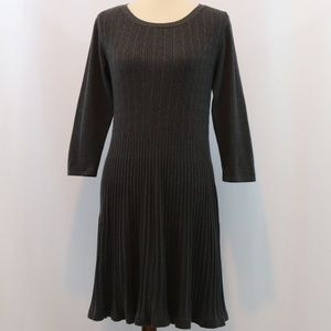 Style & Co Cable Knit Ribbed Sweater Dress